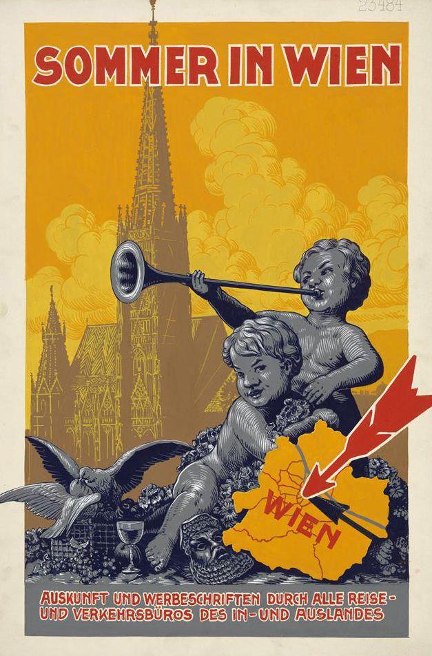 """Entwurf für ein Plakat """"Sommer in Wien © Wien Museum"""