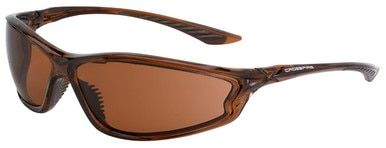 Crossfire KP6 Safety Glasses with Crystal Brown Frame and HD Copper Lens