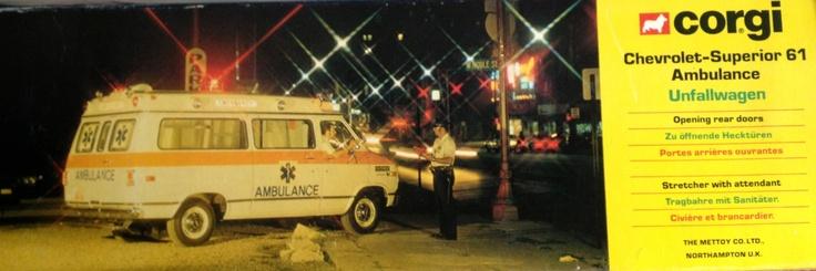 1979 Corgi Chevrolet Superior 61 Ambulance