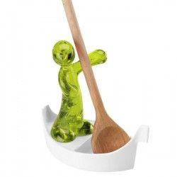 Koziol Luigi Spoon Rest - modern green designer spoon rest