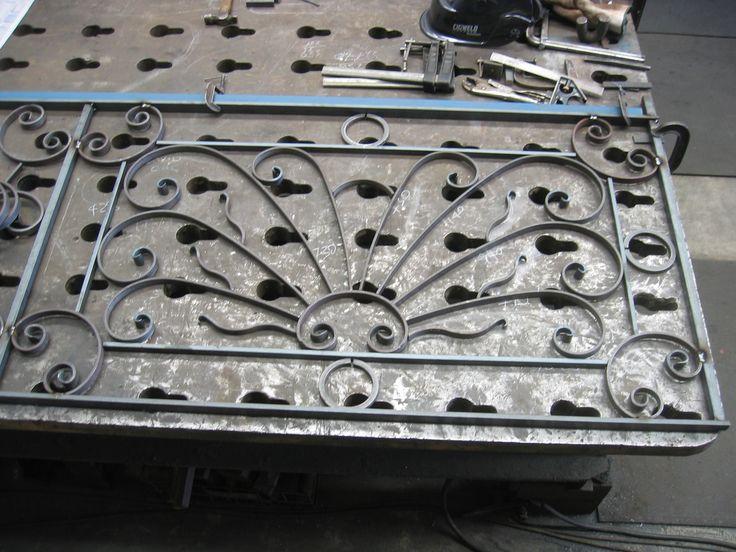 Wrought iron balustrade panel.