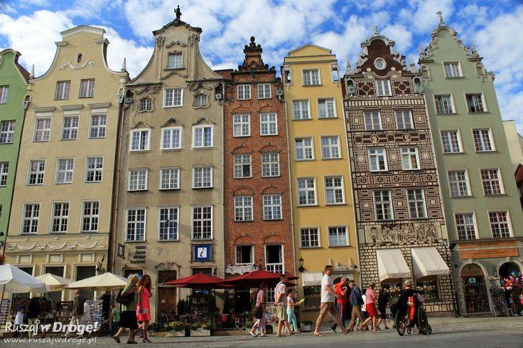 Gdańskie kamieniczki na Długim Targu, #Gdańsk, #Poland