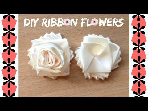 ✿ Easy DIY Ribbon Flowers tutorial | SEW and NO SEW | Ribbon Roses :) ✿