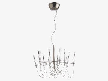 LILLE SILVER Metal Metal chandelier - HabitatUK