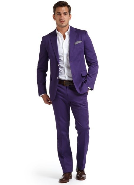 this purple suit is surprisingly classy