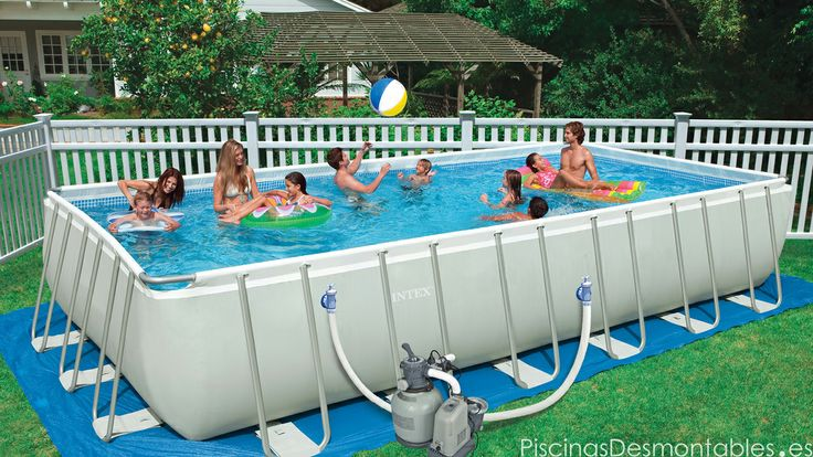 Piscina Intex Rectangular Ultra Frame 975x488x132 dep