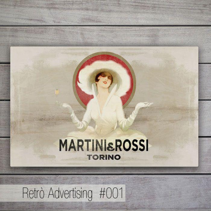 """Retrò Advertising - Rielaborazione della famosa pubblicità della Martini, la """"Dama Bianca"""" degli anni 30."""