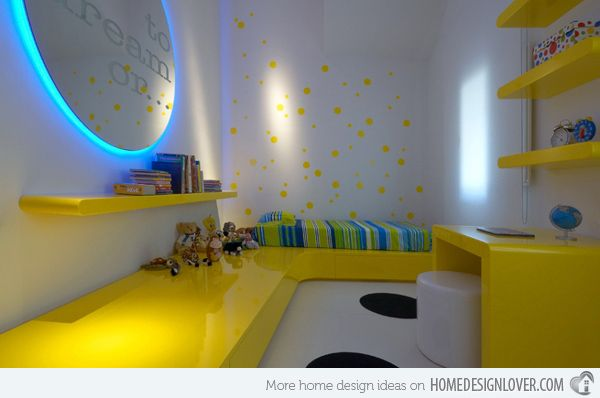15 Zesty Yellow Bedroom Designs  wall lighting