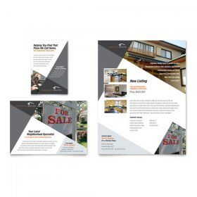contemporary modern real estate flyers printing flyer designs