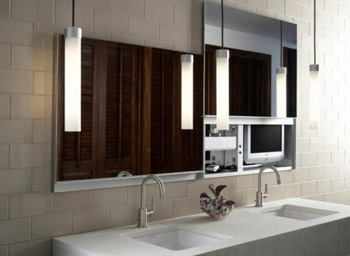 Best Lighted Mirrors Images On Pinterest Lighted Mirror Bath - Bathroom mirror with electrical outlet for bathroom decor ideas