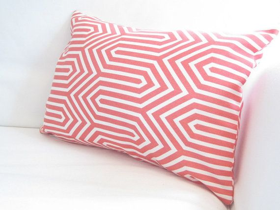 Coral Red Lumbar Pillow CoverCoral Chair by FineFreshDesign