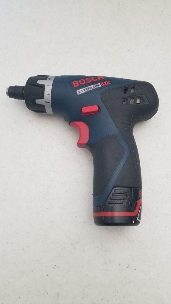 30 95 Used Bosch Ps20 Pocket Driver 12v Battery 413