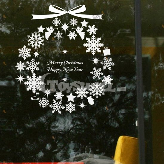 25 best ideas about christmas window stickers on for Christmas window mural
