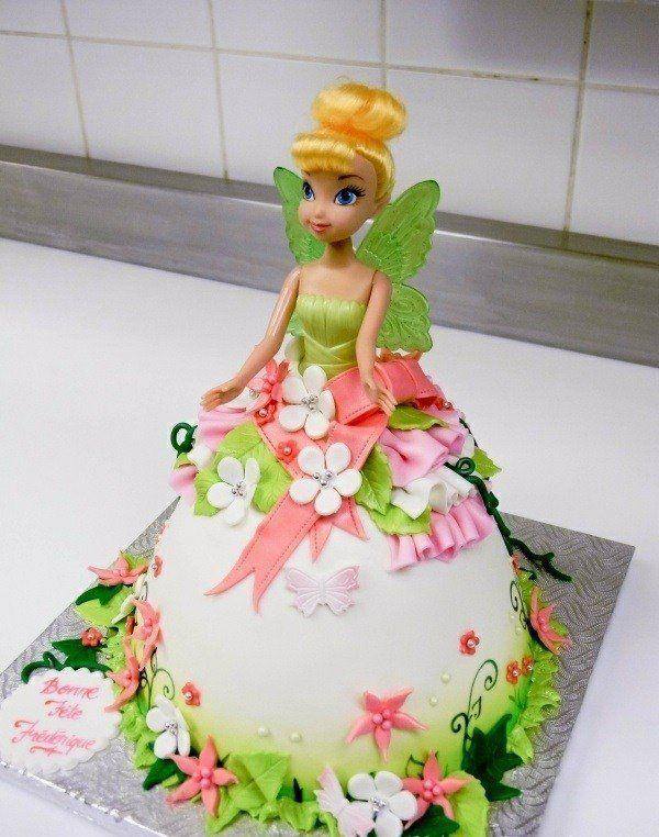 gâteau-robe de princesse: la Fée Clochette                                                                                                                                                                                 Plus
