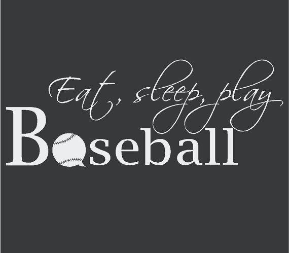 Eatsleepplay Baseball Vinyl Wall Decal 12 x by madebytheresarenee, $12.99