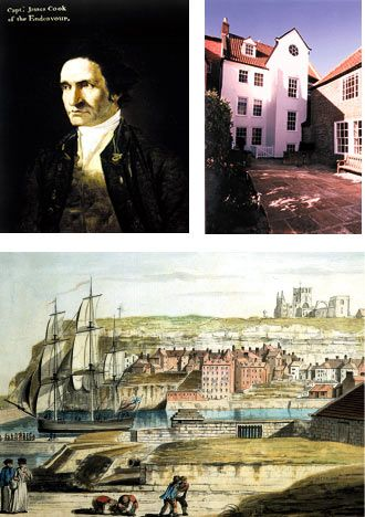 Discoverer and exlplorer Captain James Cook was born in Whitby, Yorkshire, UK in 1728