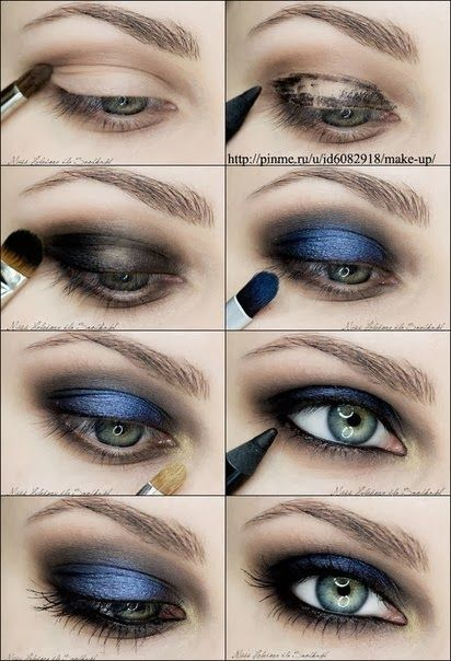 smoky eye with pop of color