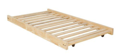 Twin Size Trundle Bed Frame - Unfinished Wood - 100% Clean Solid Wood No Toxins Made in America Simple and Strong!! $99.00