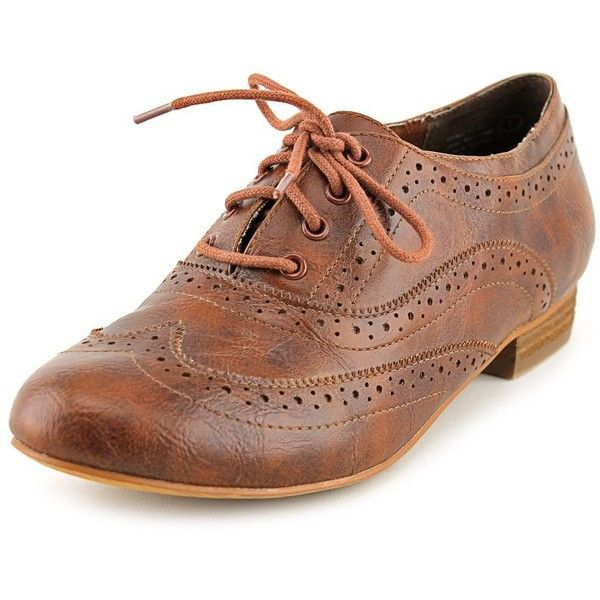 Not Rated Crush Time Women Oxfords ($17) ❤ liked on Polyvore featuring shoes, oxfords, brown, oxford shoes, oxford lace up shoes, laced shoes, laced up shoes and synthetic shoes