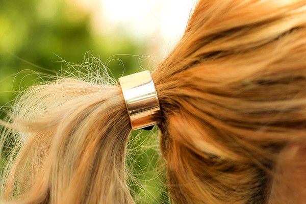 Gold Hair Tie Band