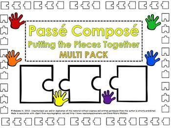 A multipack of activities for the passé composé.
