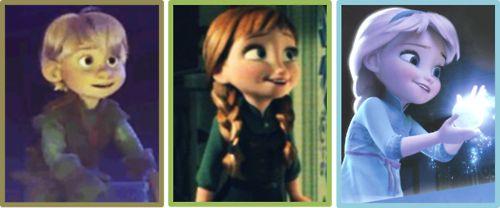 Little Anna, Elsa, and Kristoff. Awww!   movies I love ...