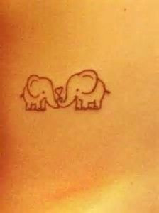 Image result for little elephant tattoos