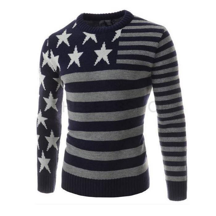 Patchwork Star Long Sleeve Sweater