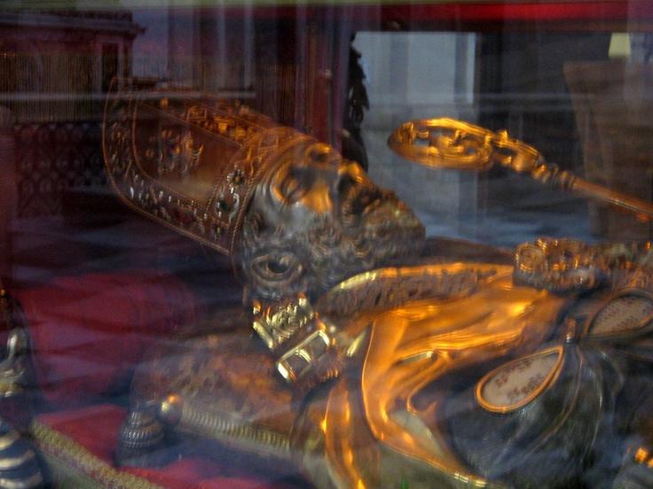 #Italy #Umbria #Terni #SaintValentine #Love, the Genuine Shrine of Saint Valentine under the altar in his  Basilica in Terni
