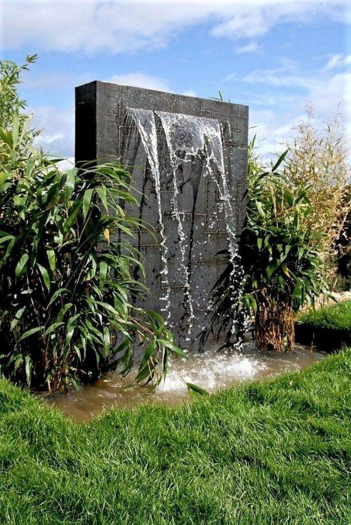 Amazing Modern Ideas For Garden Waterfalls Fountains Outdoor