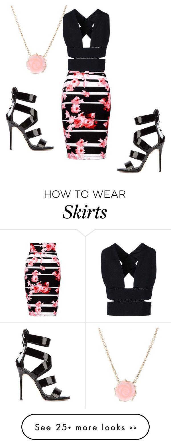 """""""Black top & Floral skirt"""" by loveisablindwar on Polyvore"""