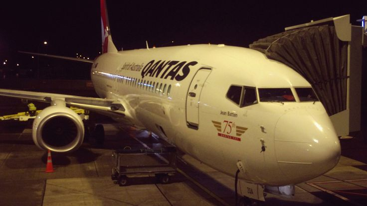 https://flic.kr/p/DsYs5J   75th 'Jean Batten' Next-Generation Boeing 737-800 at WLG Airport - Qantas   Qantas named the Boeing Next-Generation 737-800 in honor of Jean Batten, a spirited New Zealand aviator who broke numerous flying records in the 1930s. Qantas has been flying Boeing 737s since 1986. This latest Next-Generation 737-800 features Qantas-specified, 2.5-meter-high (8.2-feet-high) Blended Winglets, which reduce fuel burn, thereby increasing range and payload.  QF117 SYD-WLG