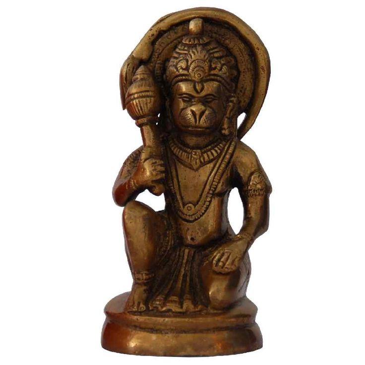 Brass Hanuman Idol