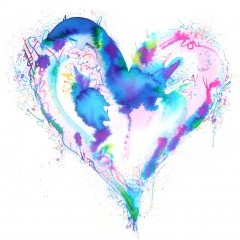 corazón color de agua