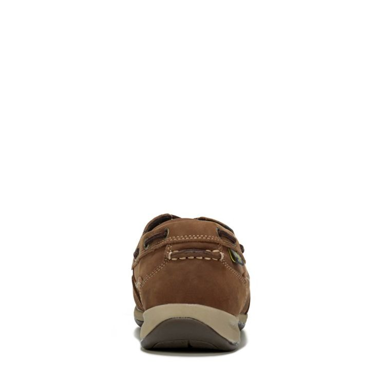 Rockport Works Men's Sailing Club Medium/Wide Steel Toe Boat Shoes (Brown Leather) - 10.0 W
