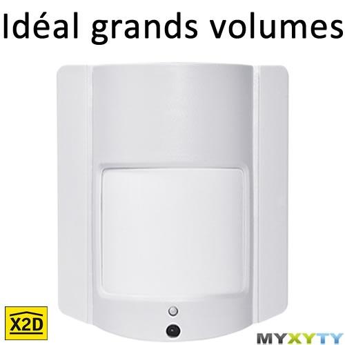 Le détecteur de mouvement Myxyty pour protéger un espace dans son intégralité : http://www.myxyty.com/produit/detecteur-de-presence-capteur-de-mouvement-sans-fil-frequence-radio-x2d