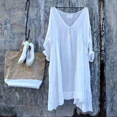 62a1d469777 Merci White Linen Dress