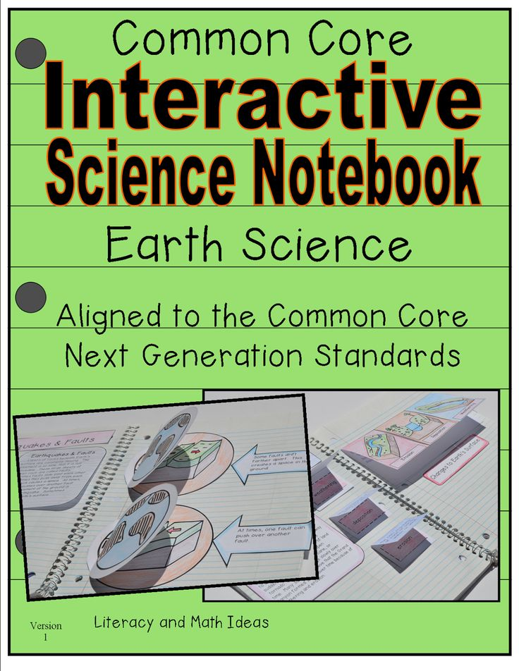 Earth Science Interactive Notebook a short passage is included for every topic too!  Interactive journal inserts and helpful vocabulary words are included as well.  Topics include:  the water cycle, water on Earth, the rock cycle, earthquakes and more.  This is a fun way to learn about science.  STEM and Common Core Next Generation Science Standards aligned
