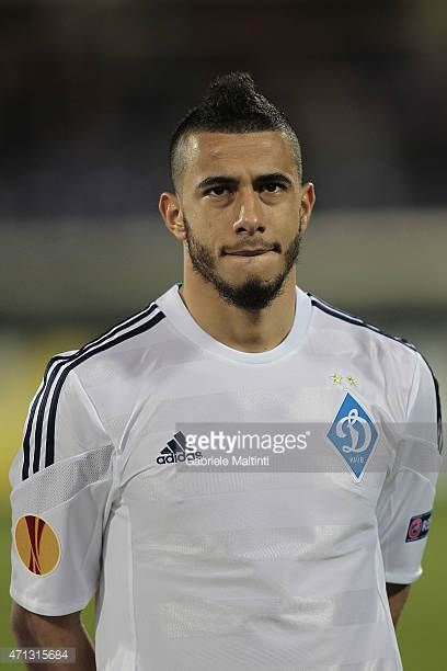 Younes Belhanda of FC Dynamo Kyiv during the UEFA Europa League Quarter Final match between ACF Fiorentina and FC Dynamo Kyiv on April 23 2015 in...