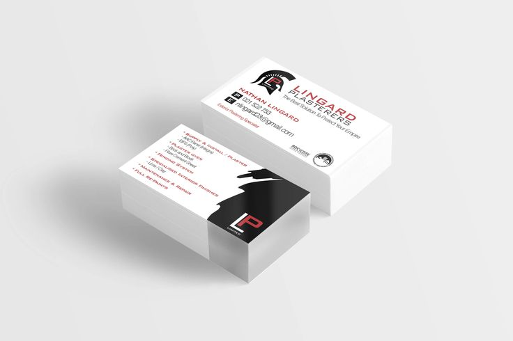 Business Cards for Lingard Plasterers designed by Imagine If Creative Studios