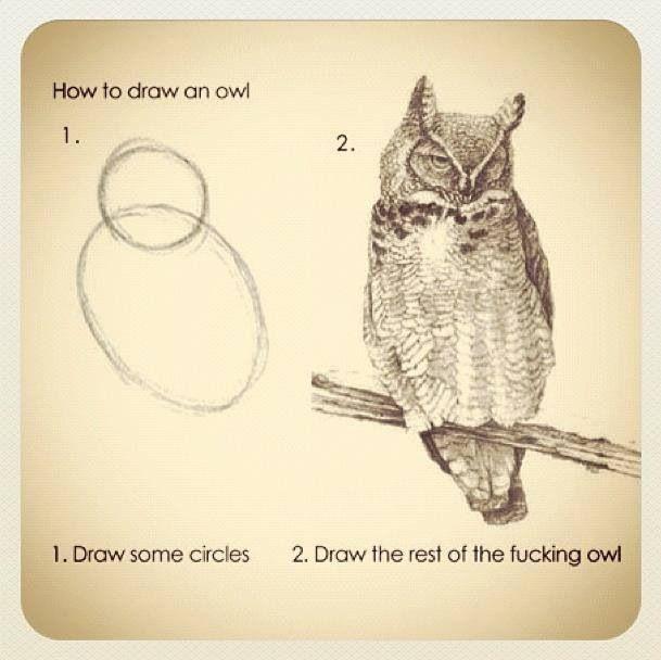 Handleiding: uilen tekenen ;-)