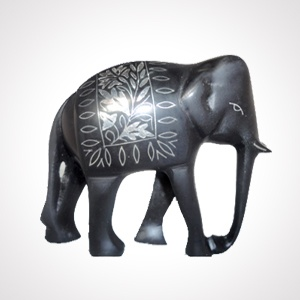 """Bidriware Elephant Artefact (6"""") 'Sheet work'   Alloy with silver inlaying   MRP- Rs. 1995"""