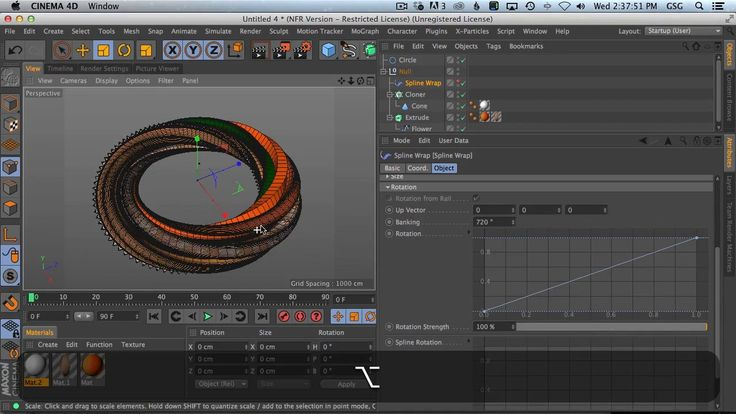 Twist Abstract Geometry to Create Numbers in Cinema4D