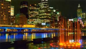 The city of Melbourne at night