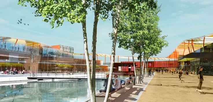 Esquisse de projet d'un parc d'activité commercial. #ABWWarnant #Architecture