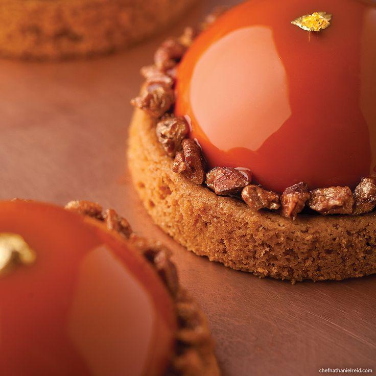 Nathaniel Reid: Amber- Pecan Caramel, Sablé Breton, Caramel Mousse, Caramelized Pecans