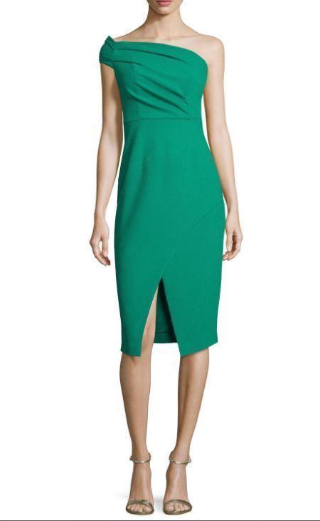 aa2031404c7d NWT Black Halo 'Carys' One Shoulder Green Cove Sheath Dress Size 10  #BlackHalo #Sheath #Cocktail