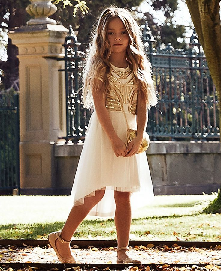 Girl's Muse Beaded Dress - Bardot Junior