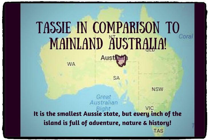 Tasmania in comparison to mainland Australia