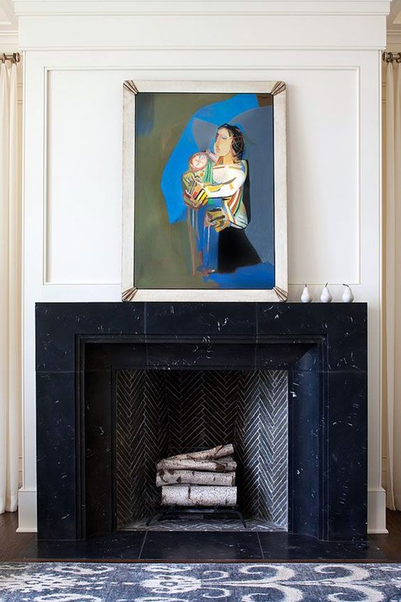 Indigo For Days Fireplace Design Fireplace Tile Interior